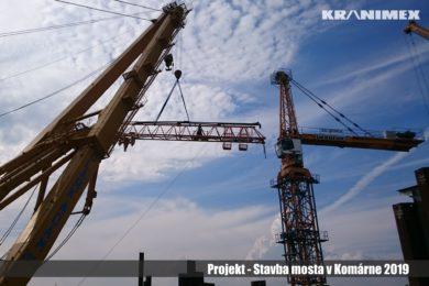 Stavba mosta v Komárne 2019