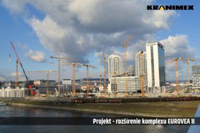 Vežové žeriavy Liebherr na projekte EUROVEA 2